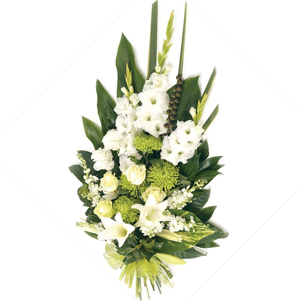 Mazzo Di Fiori Per Funerale.Mazzo Funebre Rose Lilium Crisantemi Fiorista Spagnoli