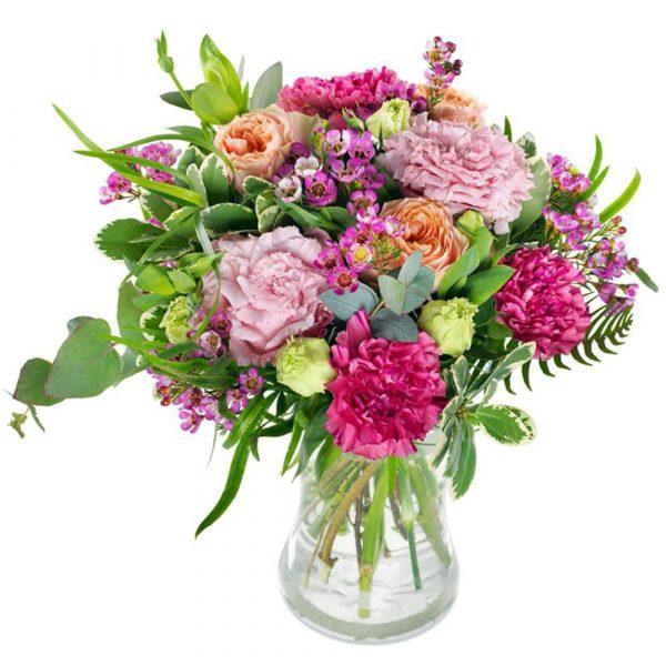 mazzo di fiori colori pastello