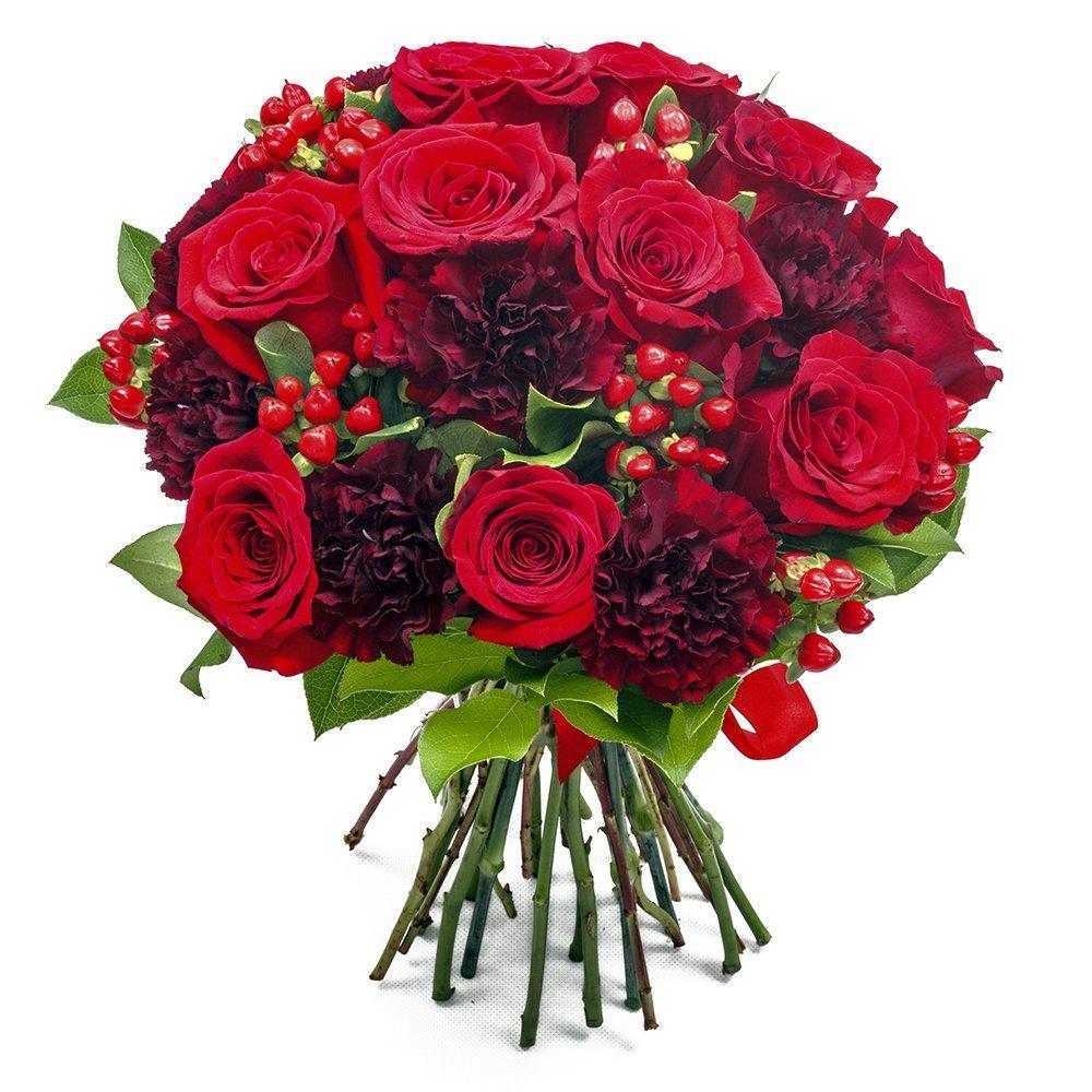 Mazzo di fiori rose e garofani